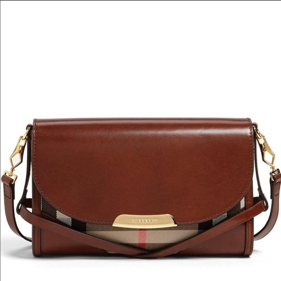 507350554fe9 Burberry Handbags - Burberry Bridle House Check Small Abbott Crossbody